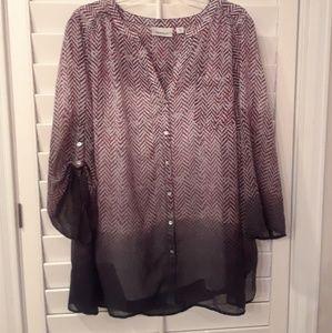 Avenue 2pc Hombre blouse Top Set sz 26/28